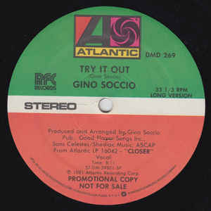 Gino Soccio - Try It Out - VinylWorld