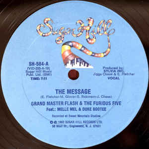 Grandmaster Flash & The Furious Five - The Message - Album Cover