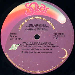 The Whispers - And The Beat Goes On - Album Cover