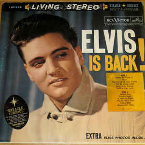 Elvis Is Back! - Album Cover - VinylWorld