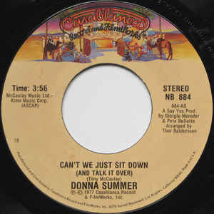 Donna Summer - Can't We Just Sit Down (And Talk It Over) / I Feel Love - Album Cover
