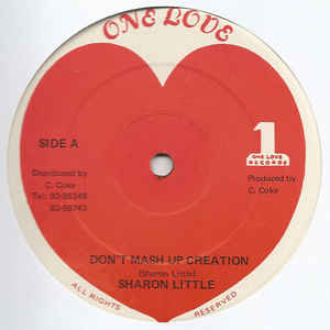 Sharon Little (2) - Don't Mash Up Creation - Album Cover