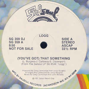 Logg - (You've Got) That Something / Dancing Into The Stars - Album Cover