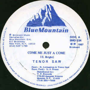 Tenor Saw - Come Me Just A Come - VinylWorld