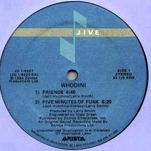 Whodini - Friends / Five Minutes Of Funk - Album Cover