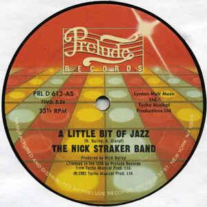 Nick Straker Band - A Little Bit Of Jazz - Album Cover
