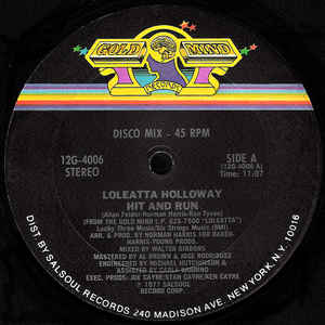 Loleatta Holloway - Hit And Run - Album Cover