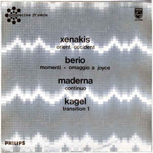 Iannis Xenakis - Orient-Occident / Momenti - Omaggio A Joyce / Continuo / Transition 1 - VinylWorld