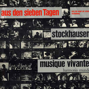 Karlheinz Stockhausen - Aus Den Sieben Tagen - Album Cover