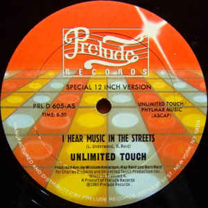 Unlimited Touch - I Hear Music In The Streets - VinylWorld