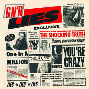 Guns N' Roses - G N' R Lies - Album Cover